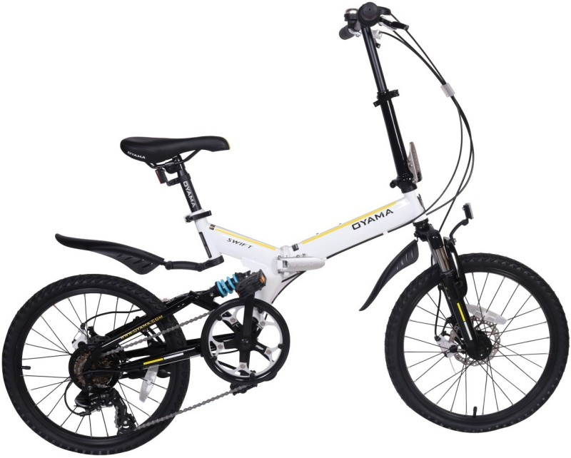 235fd45a6e3 OYAMA Swift M300 Folding Bike White For Kids&Adults 20 T 6 Gear Folding  Bikes/Folding Cycle(Multicolor) Offer