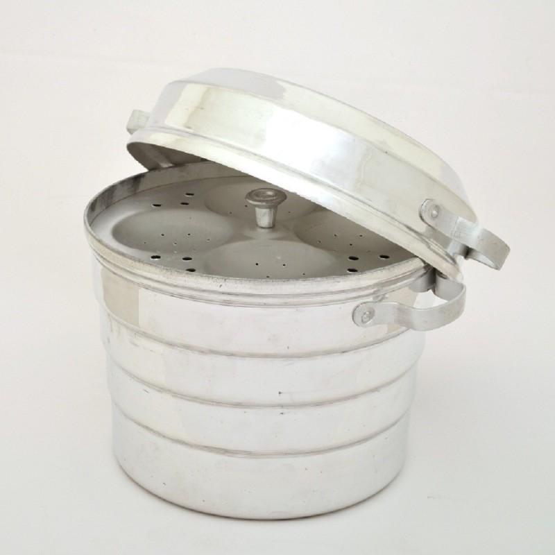 Nandani Aluminium Idli Cooker With 5 Plates Standard Idli Maker(5 Plates , 20 Idlis )