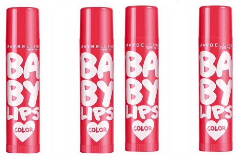 Maybelline Baby Lips Color Lip Balm SPF 20 Cherry Kiss Combo Pack Of 4 CHERRY(4 g)