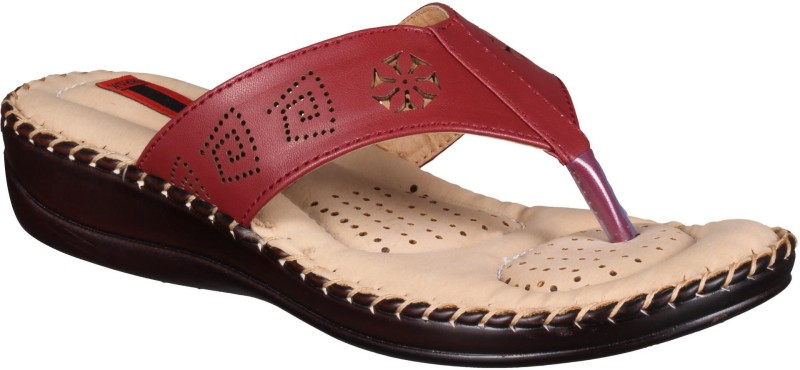 1 WALK Women Maroon Flats