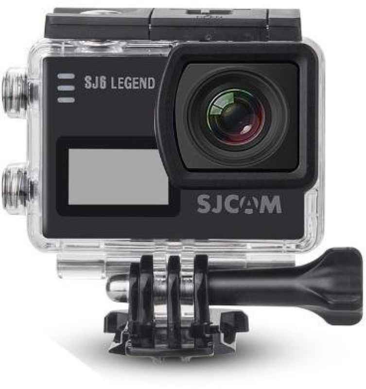 SJCAM Sports Action Camera SJ6 Legend 4K Sports Gyro Action Camera with 2 Dual LCD Touch Screen, 1080p Resolution Sports and Action Camera(Black 16 MP)