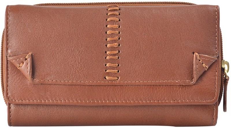 Hidesign Women Tan Genuine Leather Wallet(15 Card Slots)