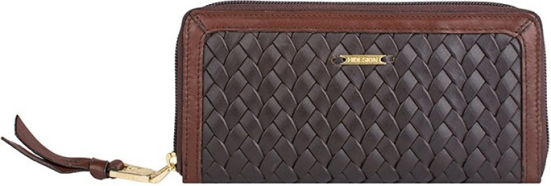 Hidesign Women Brown Genuine Leather Wallet(16 Card Slots)