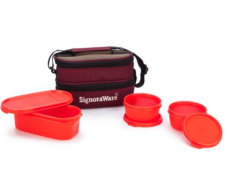 Signoraware Healthy 3 Containers Lunch Box(900 ml)