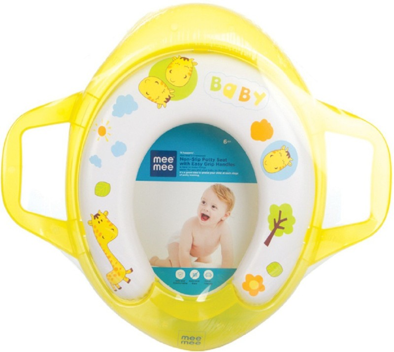 MeeMee Soft Cushioned with Support Handles Potty Seat(Yellow)