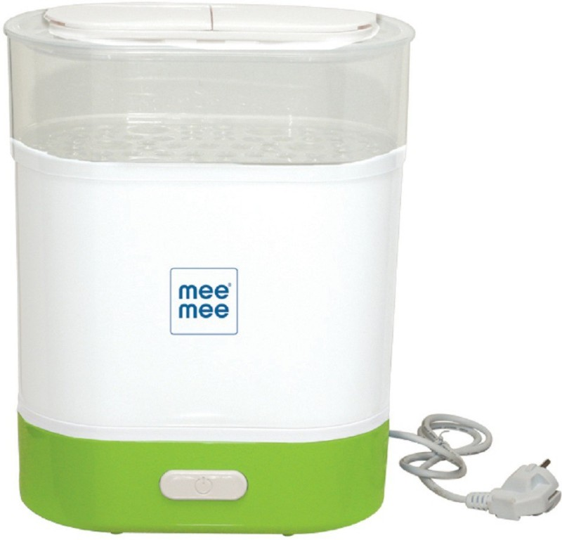 MeeMee Advanced 3 in 1 Steam Sterilizer, Bottle and Food Warmer (Green) - 2 Slots(Green)