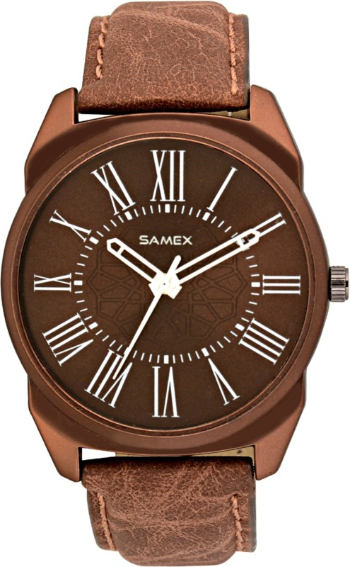 SAMEX LATEST STYLISH BIG SIZE BROWN COLOR POPULAR BRANDED FASTRACKTITA XEN0 FLIPKART FASHION SALES VALENTINE BEST PRICE DEAL Watch - For Men