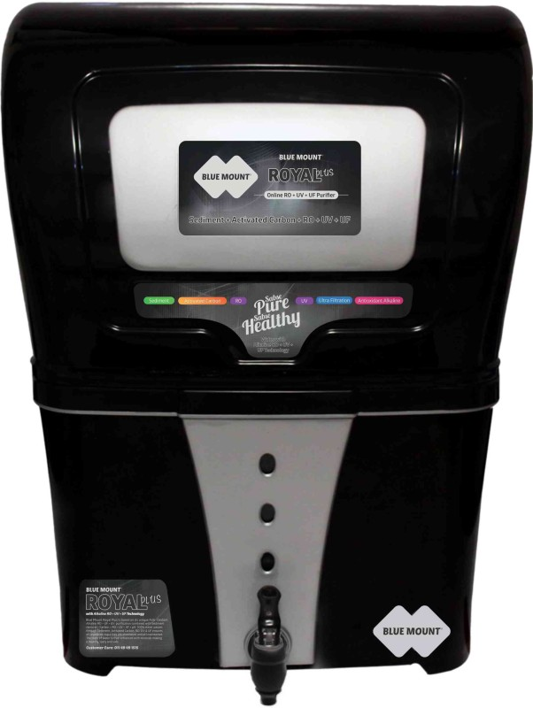Blue Mount Royal Plus BA58 12 RO + UV +UF Water Purifier(Black)