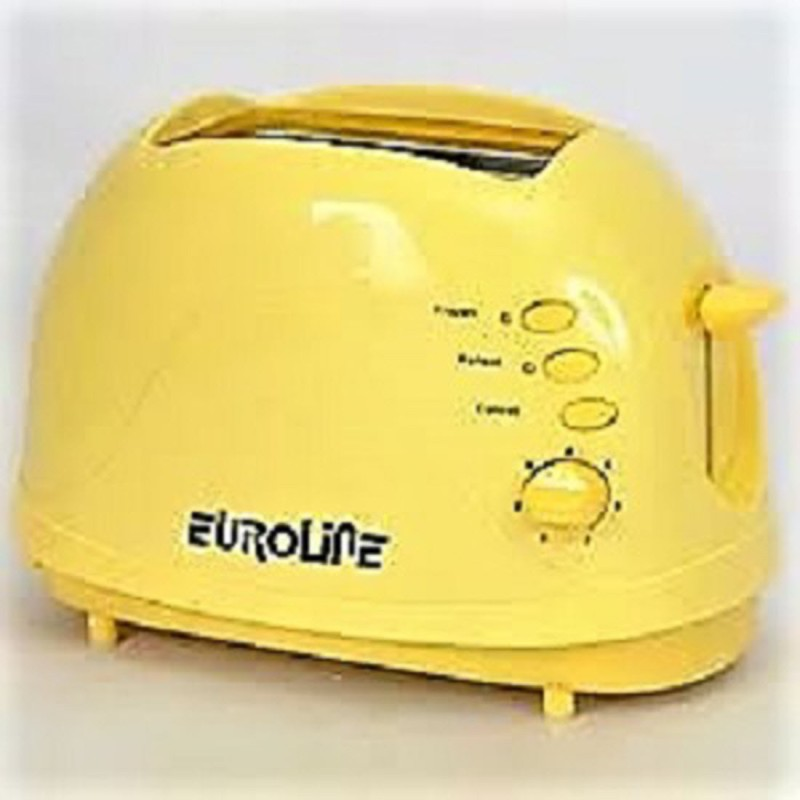 euroline EL-820 750 W Pop Up Toaster(Yellow)