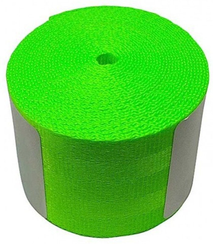 Fuji NEON GREEN Car 3.6M Seat Belt Webbing Polyester Seat Lap Retractable Nylon Safety Strap Seat Belt Cover(Pack of 1)