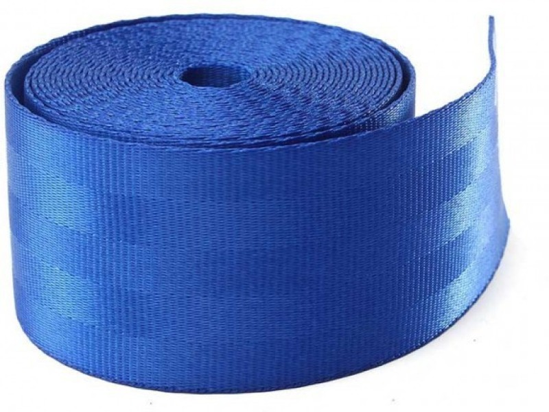 Fuji BLUE Car 3.6M Seat Belt Webbing Polyester Seat Lap Retractable Nylon Safety Strap Seat Belt Cover(Pack of 1)