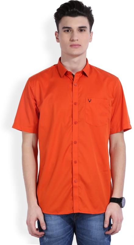 Allen Solly Men's Solid Casual Orange Shirt(Pack of 2)