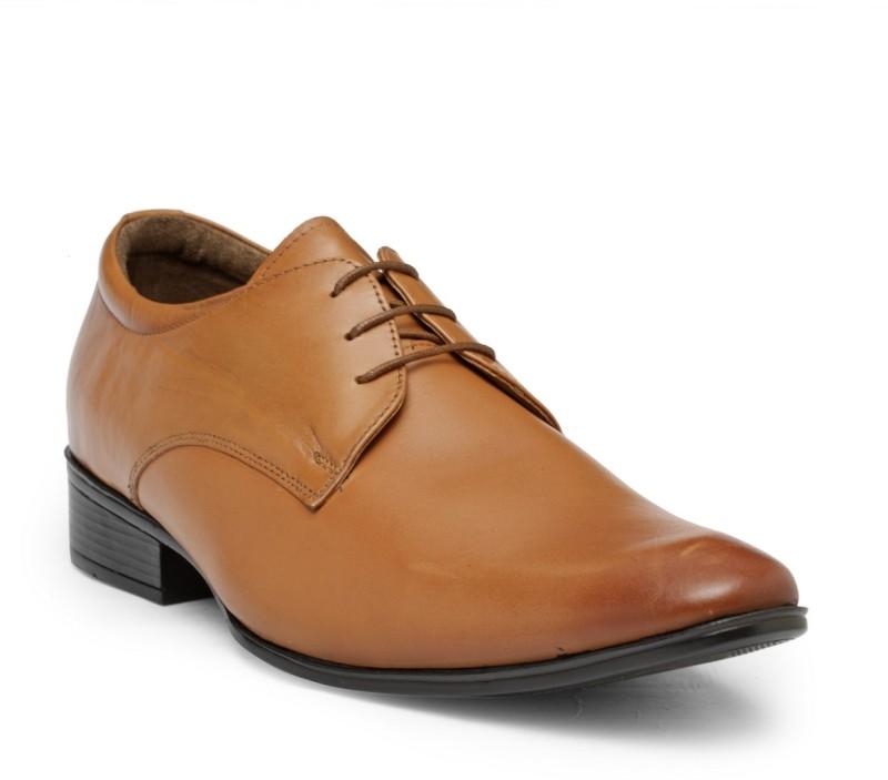 Teakwood Leather Shoes Derby For Men(Tan)