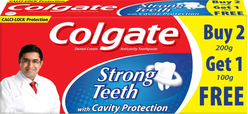 Colgate Strong Teeth Toothpaste(400 g, Pack of 2)