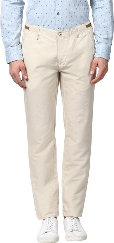 Park Avenue Slim Fit Mens Beige Trousers