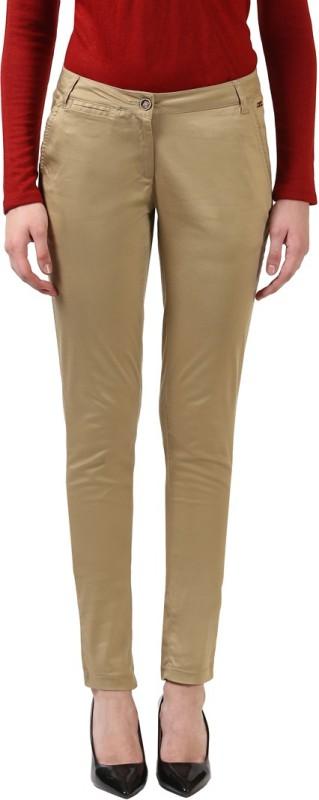 Park Avenue Regular Fit Women Beige Trousers
