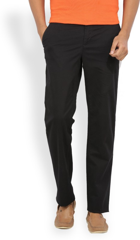 Van Heusen Slim Fit Mens Black Trousers