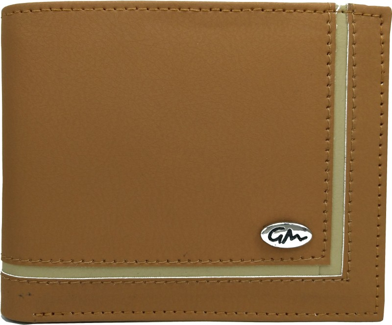 Gentleman Boys Tan, Yellow Artificial Leather Wallet(5 Card Slots)