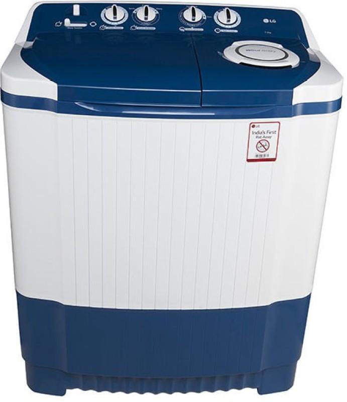 LG 7 kg Semi Automatic Top Load Washing Machine White, Blue(P8071N3FA)