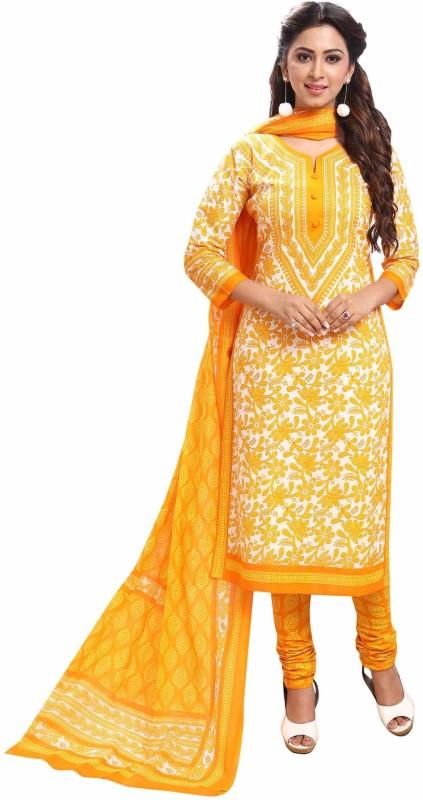 Miraan Cotton Printed Salwar Suit Dupatta Material(Un-stitched)