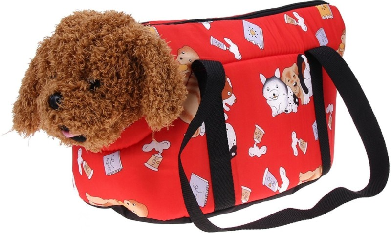 Sri Red Purse Pet Carrier(Suitable For Dog, Cat)