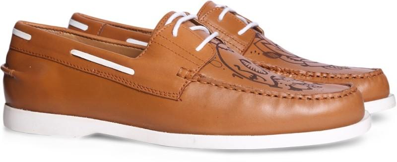 Bata JEREMIAH Boat Shoes For Men(Tan)