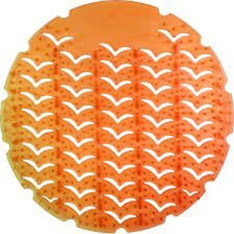 Eware Fragrances URINAL SCREEN MAT Screen 10 Pcs Orange Mat Toilet Cleaner(10 Wipes)