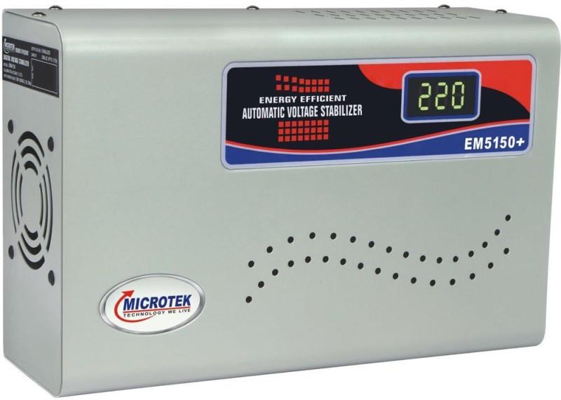 Microtek EM5150+ For AC upto 2 Ton (150V-290V) Digital Voltage Stabilizer(Grey)