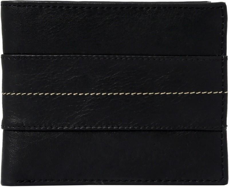 Neoterix Men Black Genuine Leather Wallet(8 Card Slots)