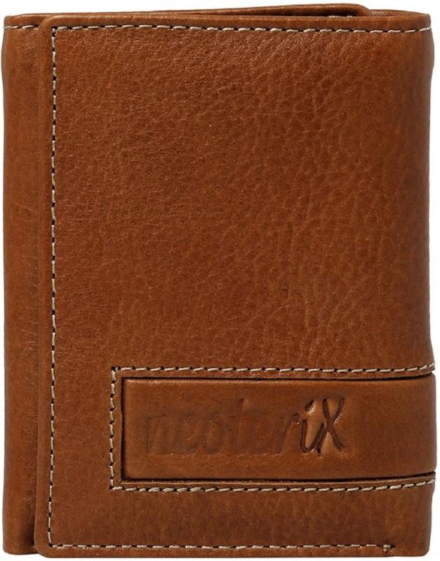 Neoterix Men Tan Genuine Leather Wallet(6 Card Slots)