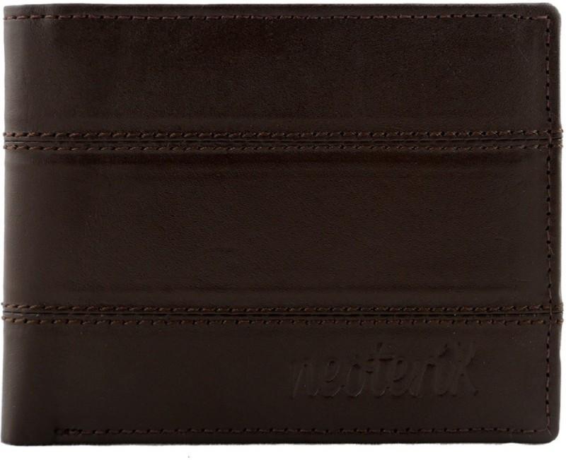 Neoterix Men Brown Genuine Leather Wallet(8 Card Slots)