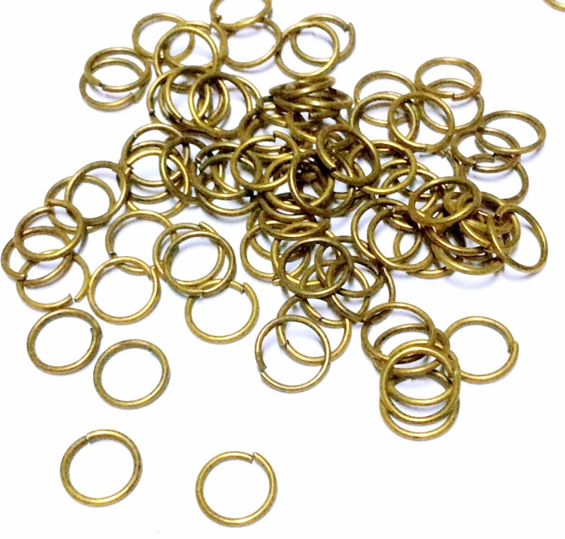 Sparkle Brass Jump ring 20 Gauge 8MM Unsoldered Ring