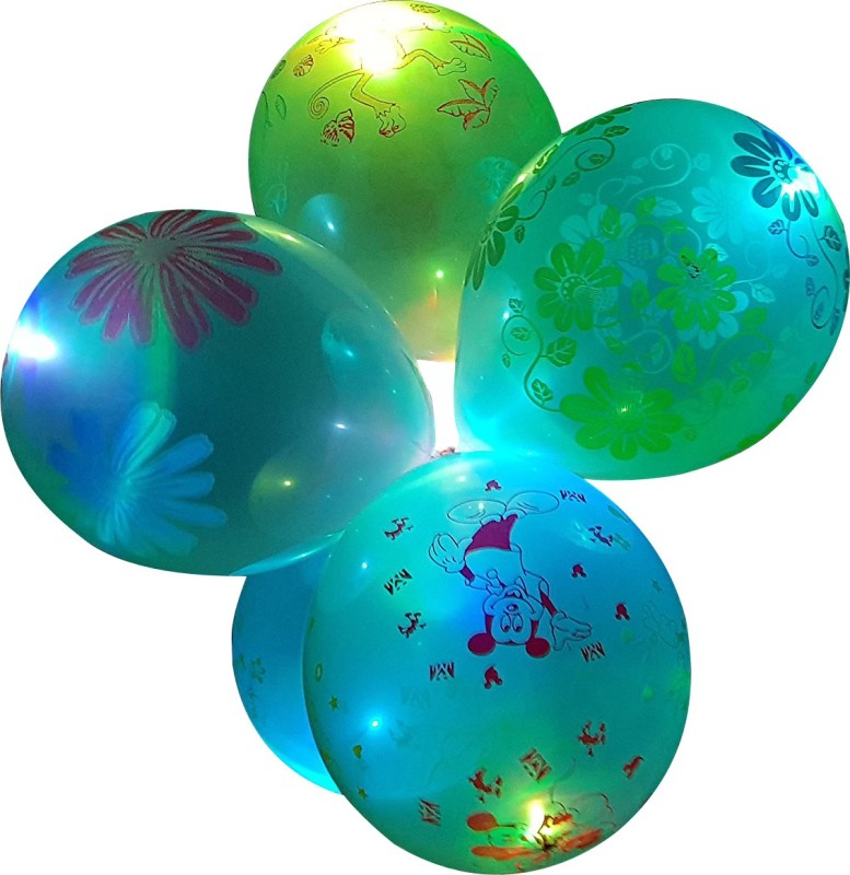 Instabuyz Printed 3D-Printed LED Balloons for Party Festival Diwali Christmas New Years Celebrations Birthday Party Multicolor (Pack of 15pcs) Balloon(Multicolor, Pack of 15)