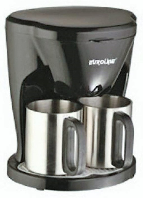 euroline EL 1102 2 Coffee Maker(Silver & Black)