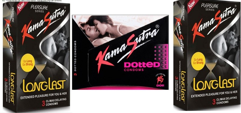 KamaSutra Kama Sutra Dotted and longlast Condom(Set of 3, 9S)