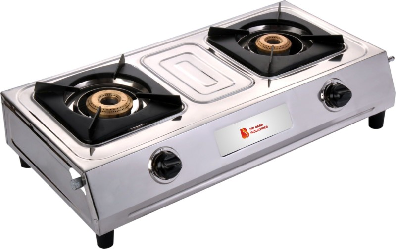 Blue Eagle Tri Pin Brass Burner With Stainless Steel Highly Efficiency L.P Gas Stove Stainless Steel Automatic Gas Stove(2 Burners)