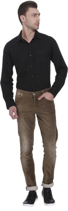 Mufti Skinny Men Brown Jeans