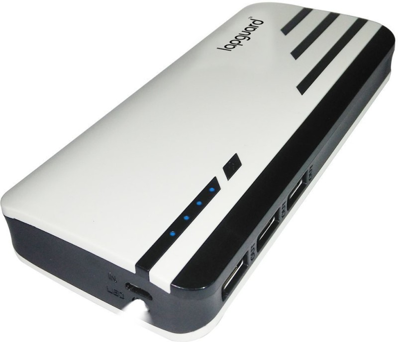 Lapguard mobile power Bank For all mobiles power bank 10000 Power Bank(White-Black, Lithium-ion)