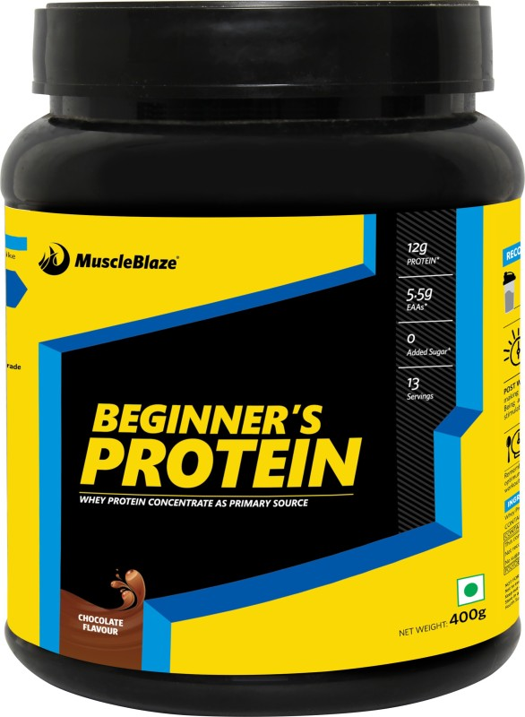 MuscleBlaze Beginners Whey Protein(400 g, Chocolate)