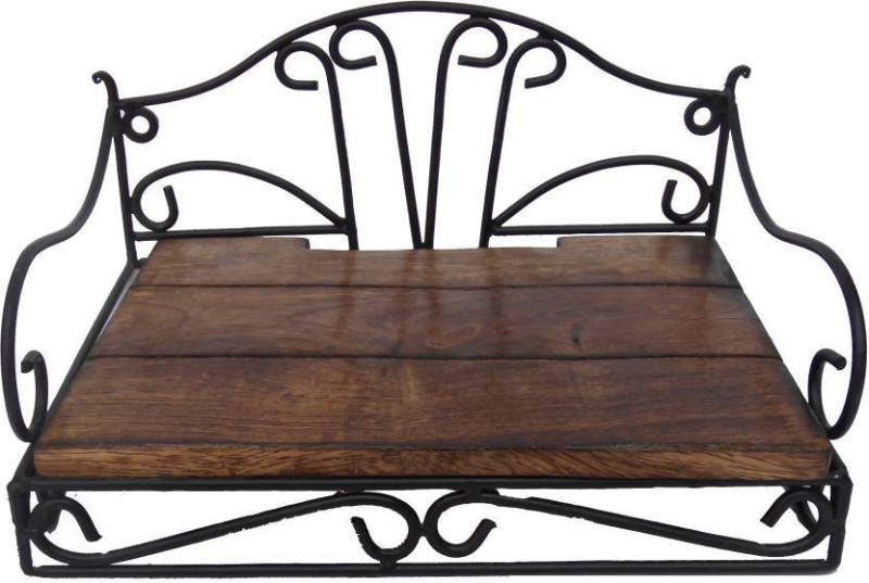 CraftOnline attractive design setup box stand wall shelf Wooden Wall Shelf(Number of Shelves - 1, Brown)