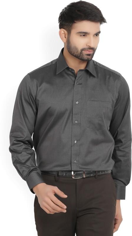 Van Heusen Mens Solid Formal Black Shirt