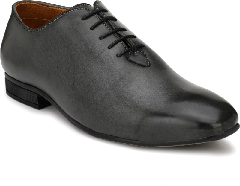 Fentacia Grey Derby For Men(Black)