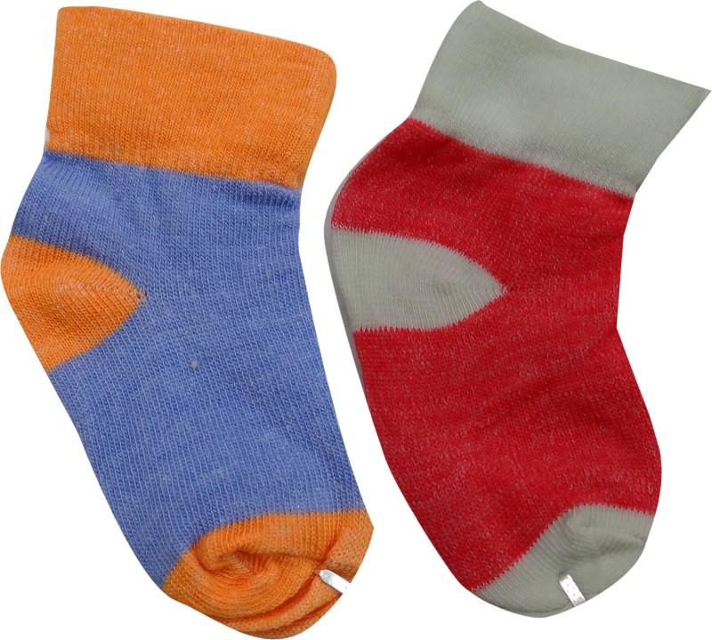 AD & AV Baby Boys & Baby Girls Self Design Ankle Length Socks(Pack of 2)