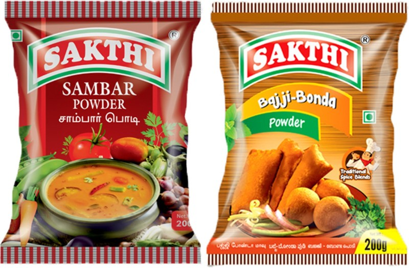 Sakthi Spices Sambar powder 200g + Bajji Bonda Powder 200g -(2 x 200 g)