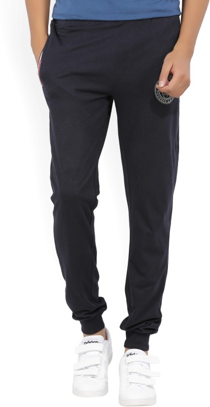 John Players Solid Mens Blue Track Pants