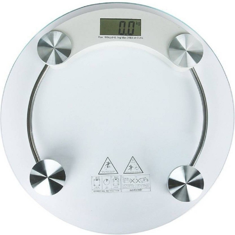 J H TRADERS Digital 8MM Thick Glass Weighing Scale (White) Weighing Scale(White)