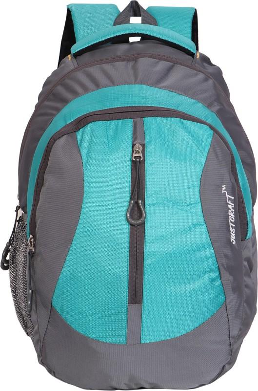 Justcraft Flora1000D 25 L Backpack(Grey, Green)