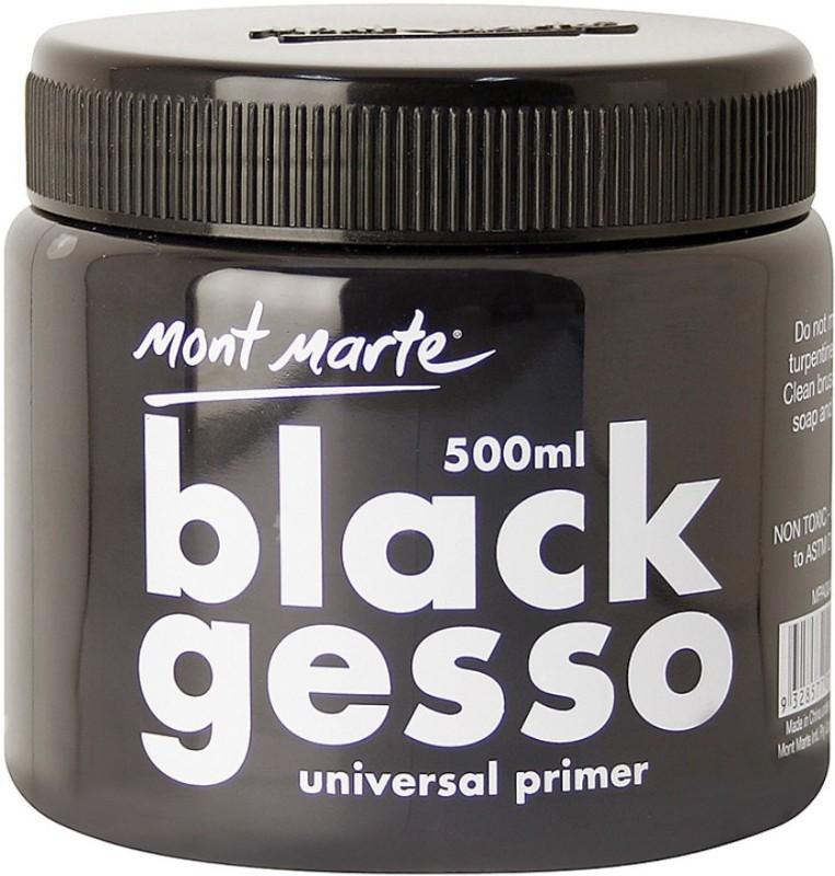 Mont Marte MMAR23792 Black Gesso for Canvas(Semi-liquid 500 ml)