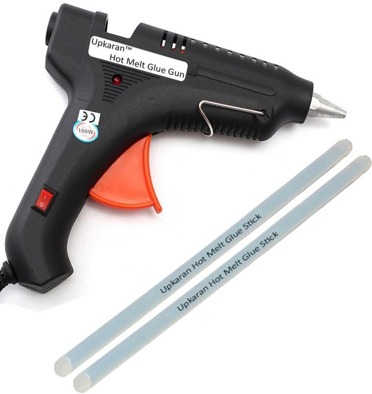 Upkaran ITEK LEAK PROOF 100 WATT WITH 2 STICKS HEAVY Standard Temperature Corded Glue Gun(11 mm)
