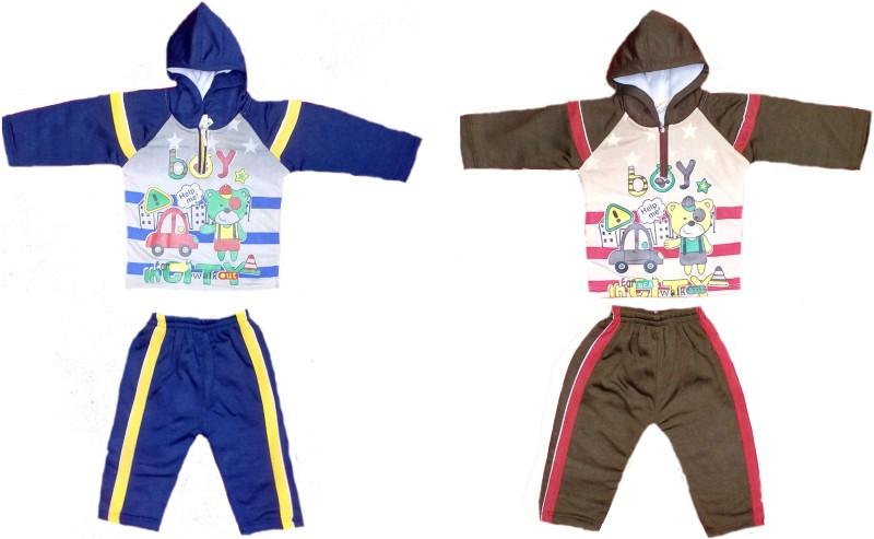 Baby Blossom Top - Pyjama Set For Boys & Girls(Blue, Pack of 2)